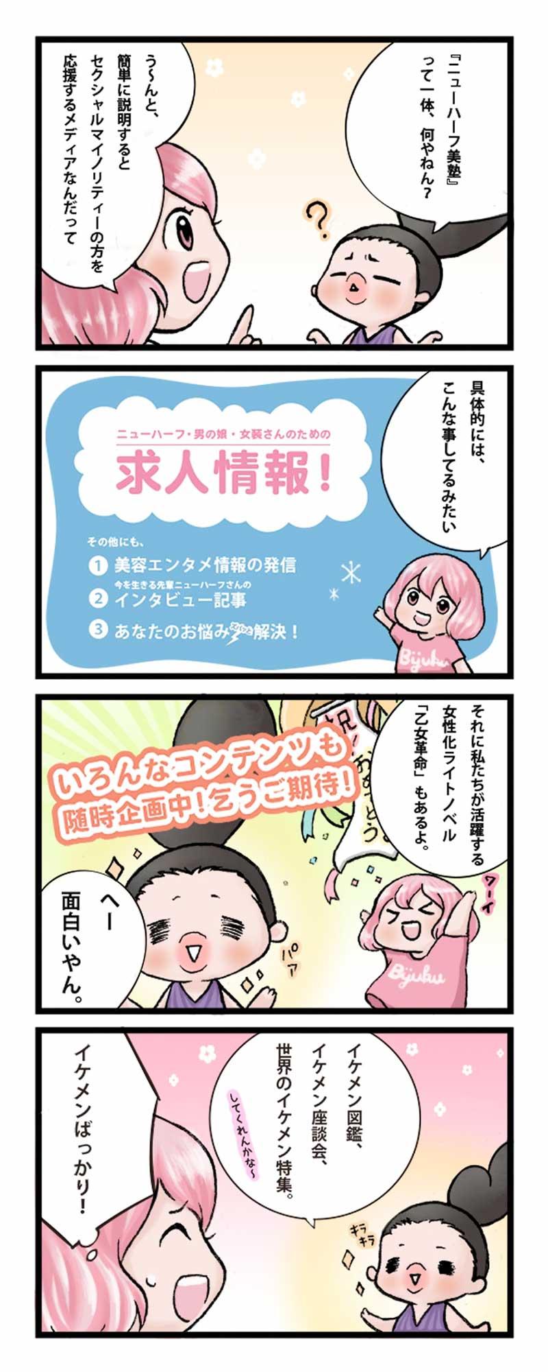 ニューハーフ美塾四コマ